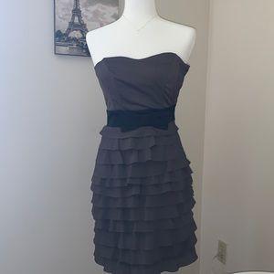 H&M| Gray strapless dress